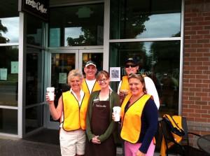 The Crew in front of Peet's Coffee & Tea -Green Lake