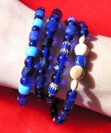 A Collection of Trade Bead Bracelets