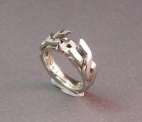 Photo of Celtic Twist White Gold Wedding Ring