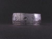 Hand carved Eagle bracelet in Sterling silver