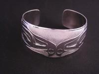 Diving eagle sterling silver hand carved braceket