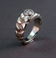 Photo of Custom White Gold 1ct. diamond Braided Wedding Ring Design