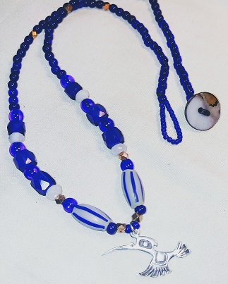 Hummingbird with Trade Beads