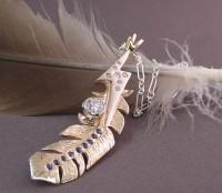 Photo of Kate's Fantastic Custom Feather Pendant