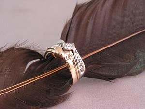 Custom Arrow Diamond Ring