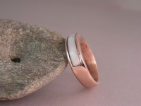 Custom 14kt Red Gold Men's Wedding Ring