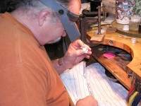Photo of Owen Walker setting stones MissFroggy custom Pendant