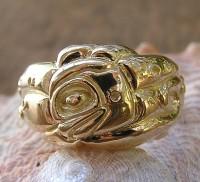18kt Octopus Ring