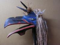 Bella Coola style Raven maskette carved by Owen Walker