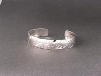 Sterling silver hand carved little eagle bracelet D44 $250.00