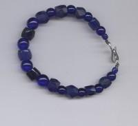 Cobalt Blue Russians and Czech bead bracelet