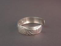 Sterling Sockeye Bracelet Hand Carved by Owen Walker