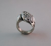 Photo-of-Walker-Goldsmiths-Cast-Sterling-Hummingbird-Ring-#312-upright-sideview