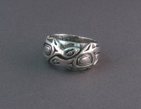 Photo of Walker-Goldsmiths-Cast-Sterling-Ring-#310-frontview