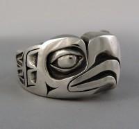 Photo of Walker Goldsmiths Cast Sterling Eagle Ring