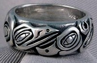 Walker-Goldsmiths-Cast-Sterling-Lovebirds-Band Ring