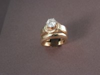 """Photo of 14kt """"Tie the Knot"""" Custom Wedding Rings"""