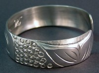 Photo of Hand Carved Sterling Sockeye Salmon Bracelet by Owen Walker
