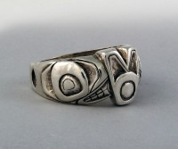 Photo of Walker-Goldsmiths-Cast-Sterling-Orca-Ring-#309-othersideview